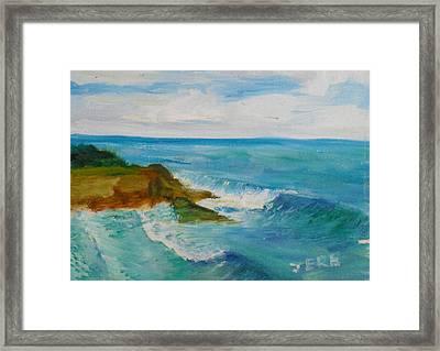 La Jolla Cove 029 Framed Print
