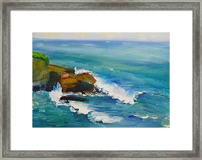 La Jolla Cove 038 Framed Print