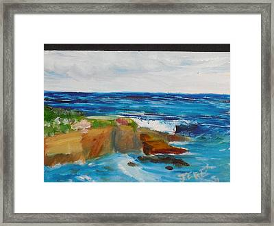 La Jolla Cove 045 Framed Print