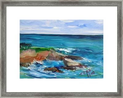 La Jolla Cove 055 Framed Print