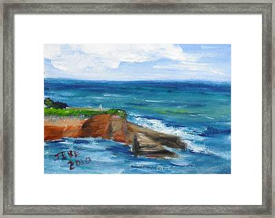 La Jolla Cove 059 Framed Print