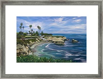 La Jolla Cove Framed Print by Lisa Reinhardt