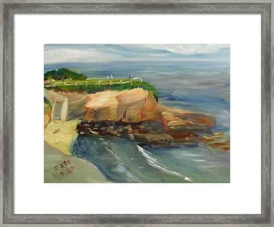 La Jolla Cove Stairway Number 1 Framed Print