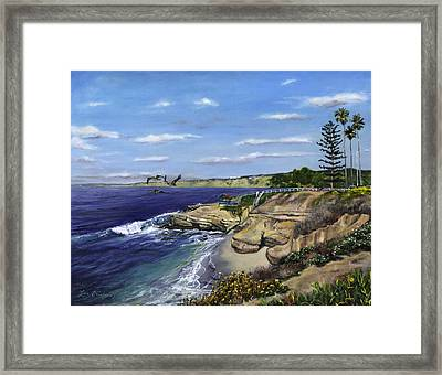 La Jolla Cove West Framed Print