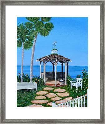 La Jolla Garden Framed Print