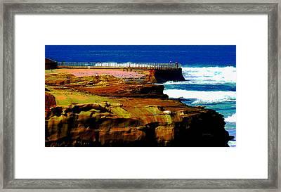 La Jolla Rocks 2 Wall Framed Print by Russ Harris
