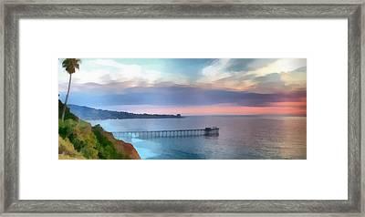 La Jolla Scripps Pier Framed Print by Russ Harris