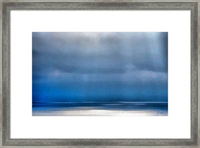 La Jolla Sunrays On The Ocean Framed Print