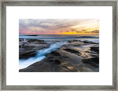 Framed Print featuring the photograph La Jolla Sunset by Chuck Jason