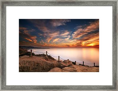 La Jolla Sunset Framed Print by Larry Marshall