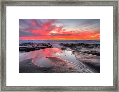 Framed Print featuring the photograph La Jolla Tidepools At Sunset by Nathan Rupert