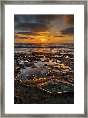 La Jolla Tidepools Framed Print by Peter Tellone