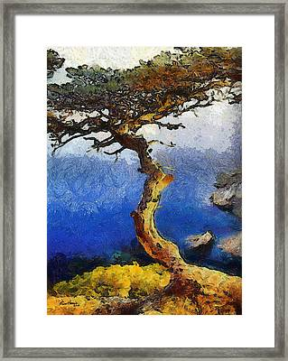 La Jolla Torrey Pines  Framed Print by Russ Harris