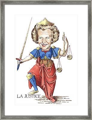 La Justice Framed Print