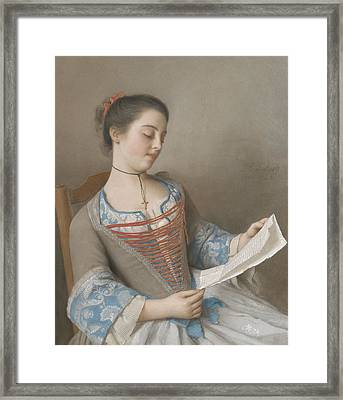 La Liseuse Framed Print
