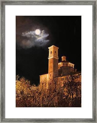 la luna a Cherasco Framed Print