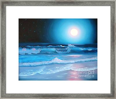 La Luna  My Seascape Collection Framed Print