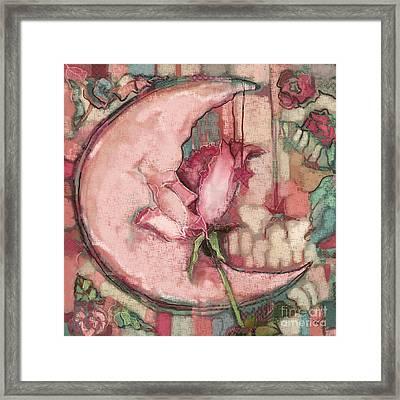 La Luna Rosa Framed Print