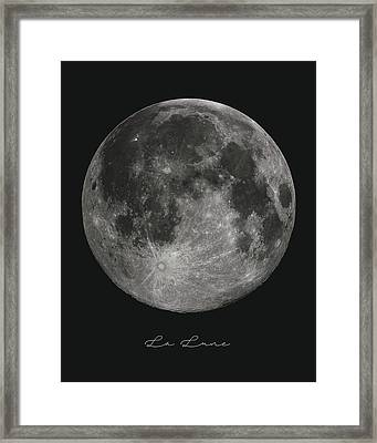 La Lune, The Moon Framed Print by Studio Grafiikka