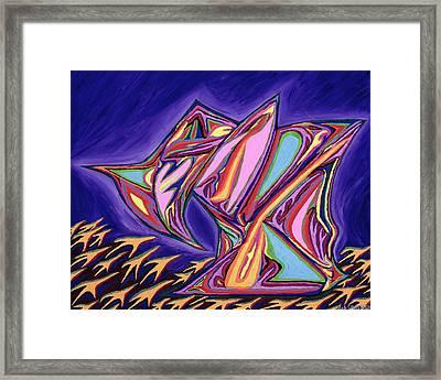 La Machine Nostradamus Framed Print by Robert SORENSEN