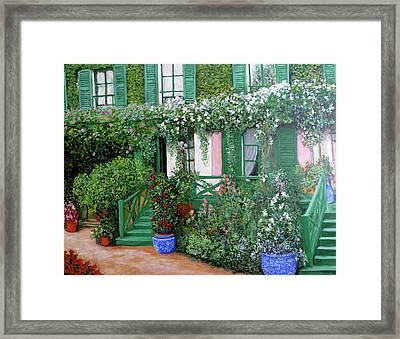 La Maison De Claude Monet Framed Print by Tom Roderick