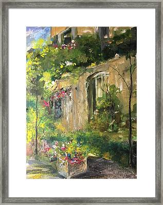 La Maison Est O Le Coeur Est Home Is Where The Heart I Framed Print by Robin Miller-Bookhout