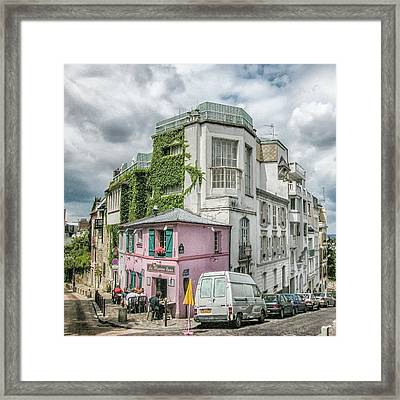 Framed Print featuring the photograph La Maison Rose by Alan Toepfer