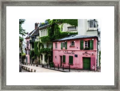 La Maison Rose Framed Print