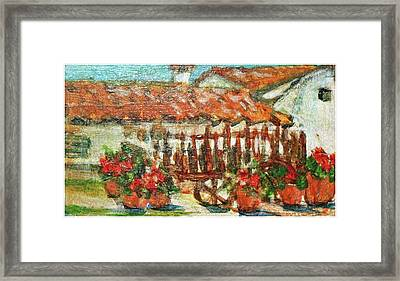 Framed Print featuring the painting La Mancha by Mindy Newman