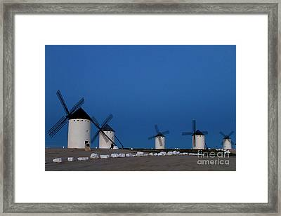 Framed Print featuring the photograph La Mancha Windmills by Heiko Koehrer-Wagner