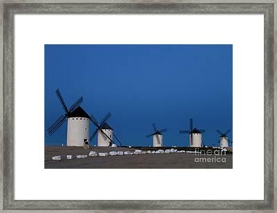 La Mancha Windmills Framed Print
