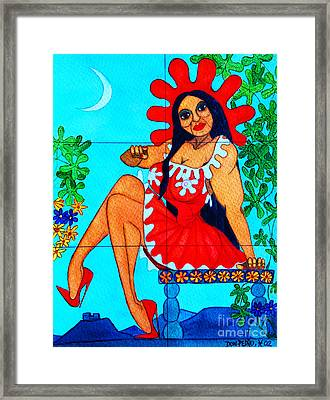 La Tia Maria Framed Print by Don Pedro De Gracia