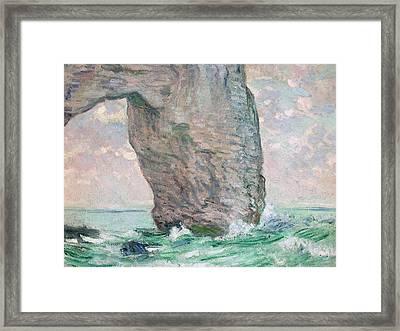 La Manneporte A Etretat Framed Print by Claude Monet