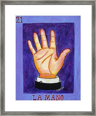 La Mano Framed Print