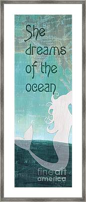 La Mer Mermaid 1 Framed Print by Debbie DeWitt