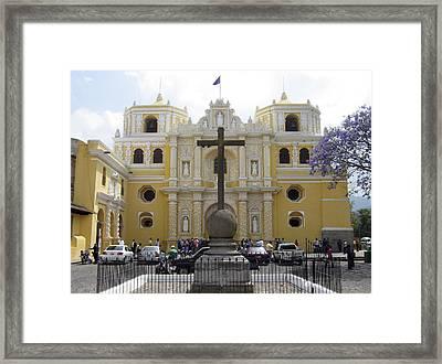 La Merced Church II Antigua Framed Print by Kurt Van Wagner