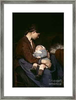La Mere Framed Print by Elizabeth Nourse