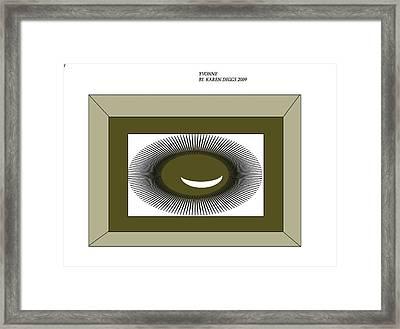 La Montana Framed Print by Karen Y Diggs