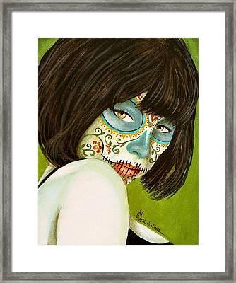 La Muerte En Verde Framed Print