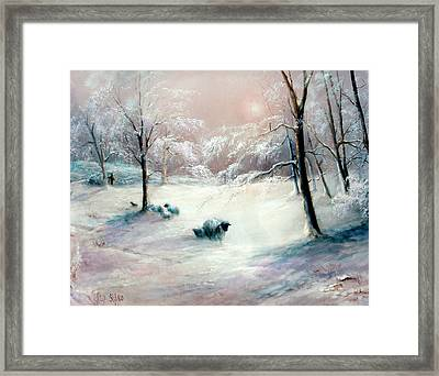La Neige Framed Print by Sally Seago
