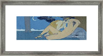 La Nuit Framed Print by Georges Barbier
