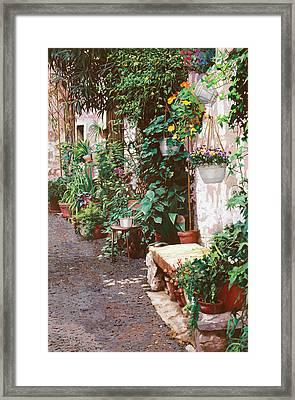 La Panca Di Pietra Framed Print by Guido Borelli