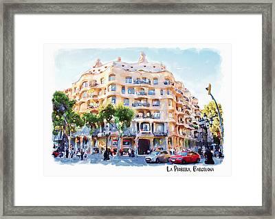 La Pedrera Barcelona Framed Print by Marian Voicu