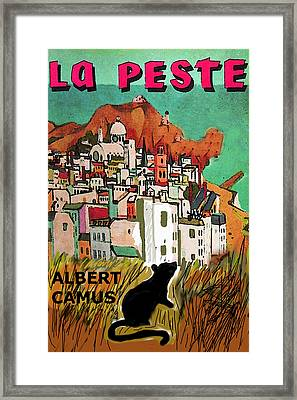 La Peste  Albert Camus Poster Framed Print by Paul Sutcliffe