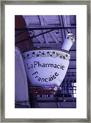 La Pharmacie Framed Print