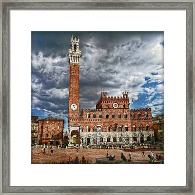 Framed Print featuring the photograph La Piazza by Hanny Heim