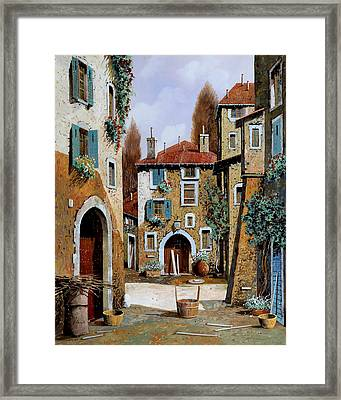 La Piazzetta Framed Print by Guido Borelli