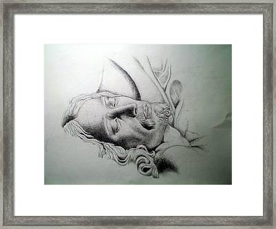 La Pieta Jesus Framed Print by Heather Calderon