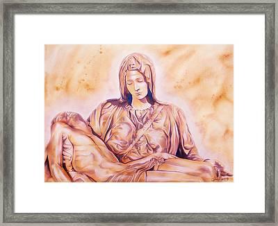 La Pieta Framed Print by J- J- Espinoza