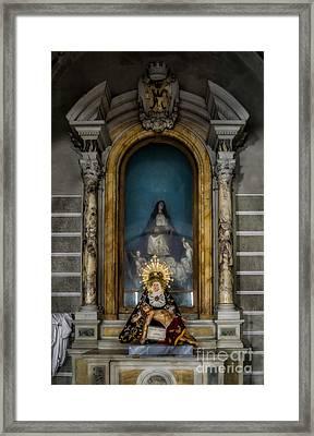 La Pieta Statue Framed Print